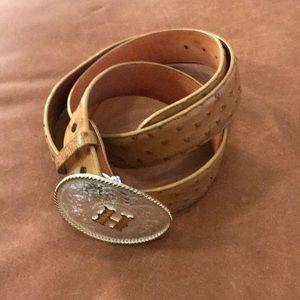 Other - Genuine Ostrich Belt with Belt Buckle